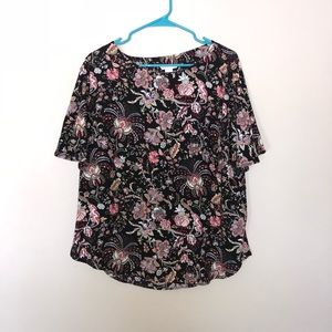 H&M Black Floral Blouse (12)